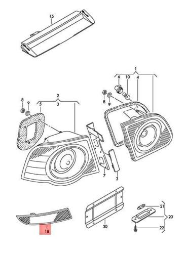 Genuine Rear Light Reflector Right VW Passat 3C2 3C5 3C0945106A