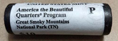 "Mint /""BU/"" ATB series 2014 P Smoky Mountain Tennessee Quarter ROLL U.S"