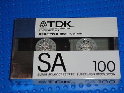 1 VI    BLANK CASSETTE TAPE TDK  SA   100    VS SEALED