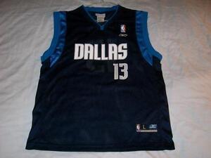 38fd9c12cc4 Steve Nash 13 Dallas Mavericks NBA Reebok Blue Jersey Boy s Large 14 ...