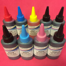 9x100ML DYE REFILL INK BOTTLES FOR EPSON STYLUS PHOTO R2400 R 2400 PRINTER CISS