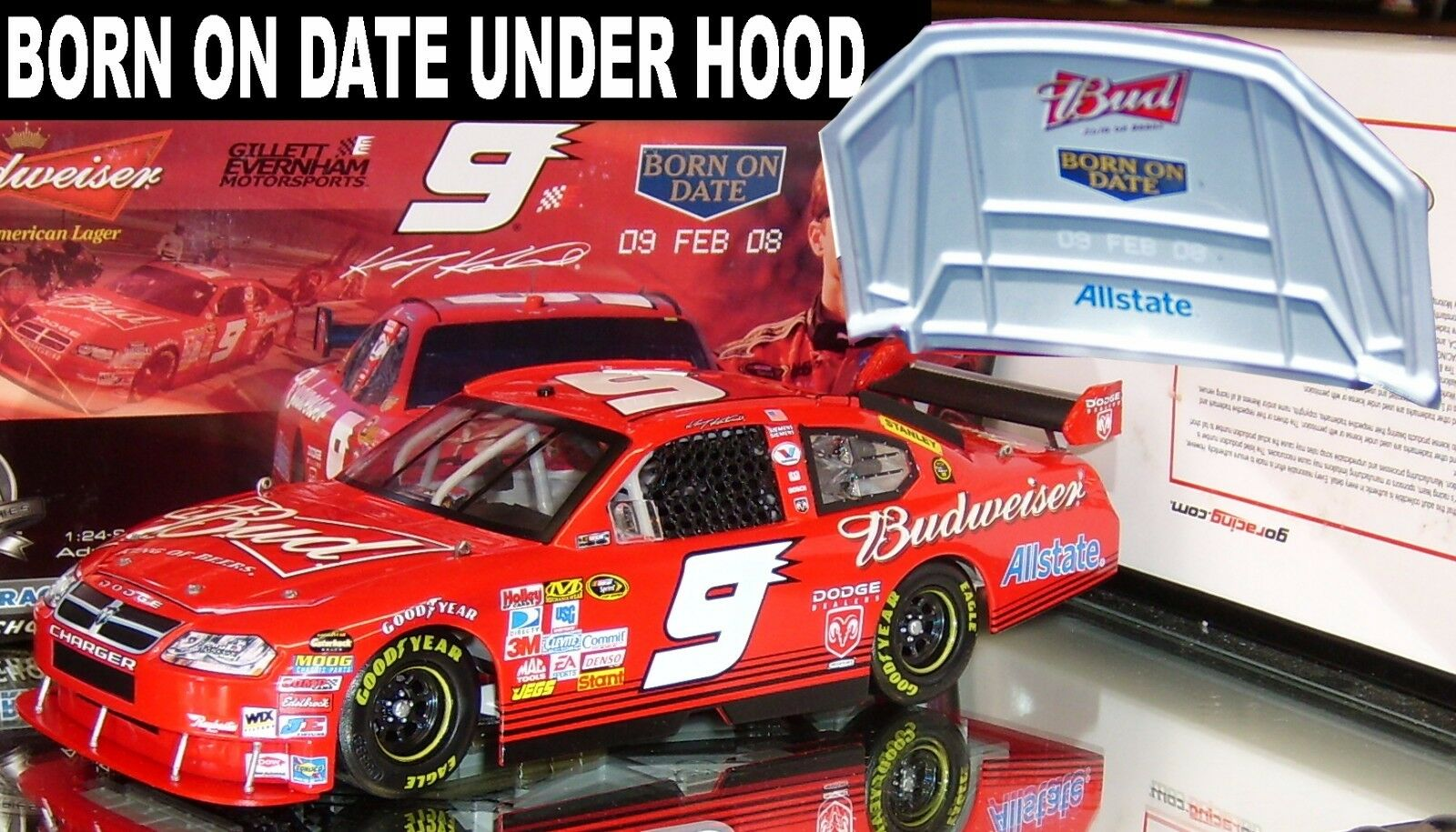 KASEY KAHNE 2008 BUDWEISER BORN ON DATE 1 24 ACTION