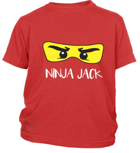 Personalised Ninja Kids Childrens Boys Girls T Shirt Party GIFT Present Birthday