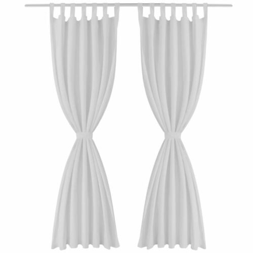 2 pcs Modern Polyester Micro-Satin Curtains with Loops 9 Colours Home Office New