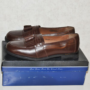 Nunn Bush Nib New In Box Norwood Cognac Size 10 70 Slip