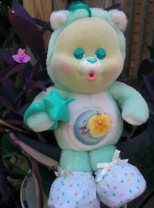 Vintage-1986-Kenner-Care-Bear-Cousin-Baby-BEDTIME-BEAR-Plush-CUB-Repro-Pacifier