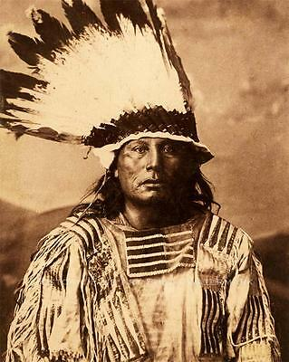 SIOUX INDIAN WAR CHIEF GALL RARE VINTAGE PHOTO COMMANDER LITTLE BIG HORN - 20884