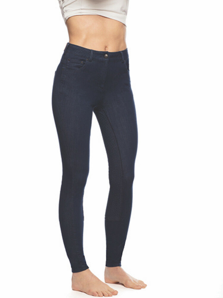 Goode Rider  Posh Jeggings Full Seat Breeches-Middark Denim-28R  cost-effective