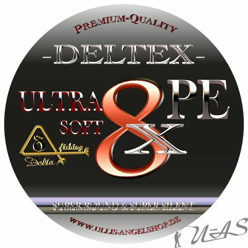 DELTEX ULTRA RUND SOFT GRÜN 0,20MM 13.00KG 1000M 8 FACH RUND ULTRA GEFLOCHTENE ANGELSCHNUR d005e0
