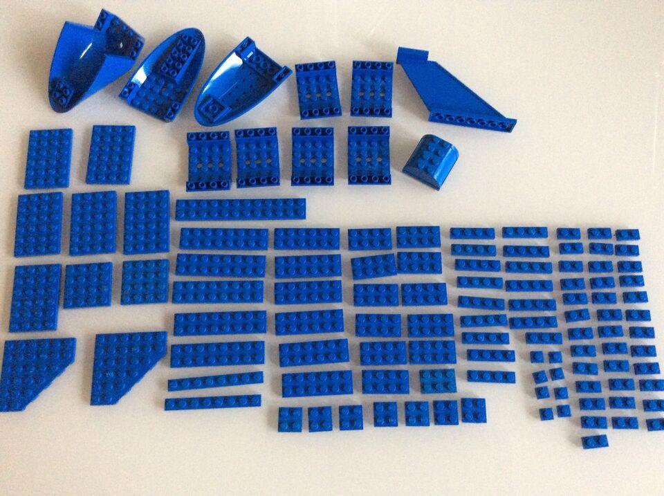 Lego blandet, Blå elementer
