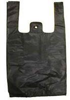Black Plastic Bags Tshirt Retail Small 1/10 Hd Quality Wholesale 8 X 3.5 X 15