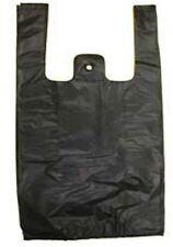 Black Plastic Bags Tshirt Retail Small 110 Hd Quality Wholesale 8 X 35 X 15