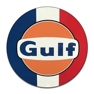 Details about Gulf Gasoline Red White Blue Stripes Reproduction Aluminum  Sign