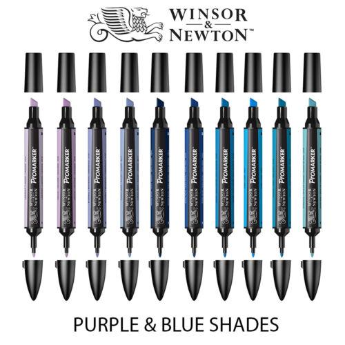 Winsor /& Newton Promarker Twin Tip Stylo Marqueur Graphique-Violet /& Bleu Couleurs