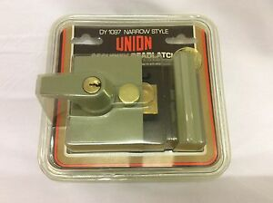 Details about UNION SECURITY 40mm DEAD LATCH DY 1097 NARROW STYLE AUTO  DEADLOCKING RIM LOCK