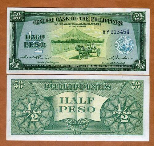 Ch 1//2 Peso Philippines Fractional denom 1949 ND P-132 UNC /> stapleholes