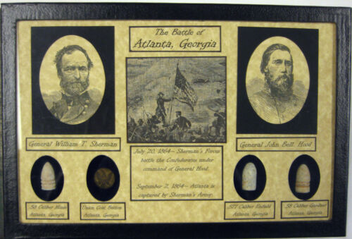 The Battle of Atlanta...Sherman vs Hood...Union /& Confederate Items with COA