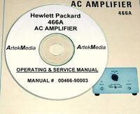 Hp Hewlett Packard 466a Ac Amplifier Operating & Service Manual