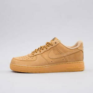 new york 70045 97901 Nike Air Force One 1 Low FLAX WHEAT BROWN SUEDE AF1 AA4061 ...