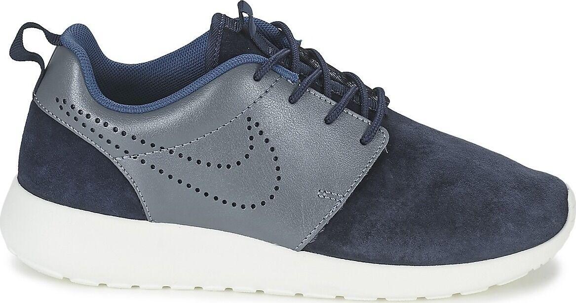 WMNS Nike Roshe One Premium Suede SZ 6 Mid Navy Metallic Blue 820228-400