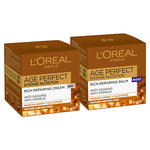 NEW L'Oreal Paris Age Perfect Intense Nutrition Day+Rich Repairing Night Cream