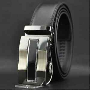Mens-Black-Dress-Fashion-Leather-Belt-with-Auto-Lock-Stainless-Steel-Buckle-L2
