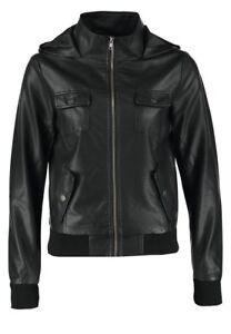 giacca in pelle nera corta