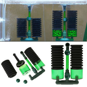 Aquarium-Fish-Tank-Biochemical-Sponge-Filter-Air-Pump-Double-Head-w-Suction-Cup
