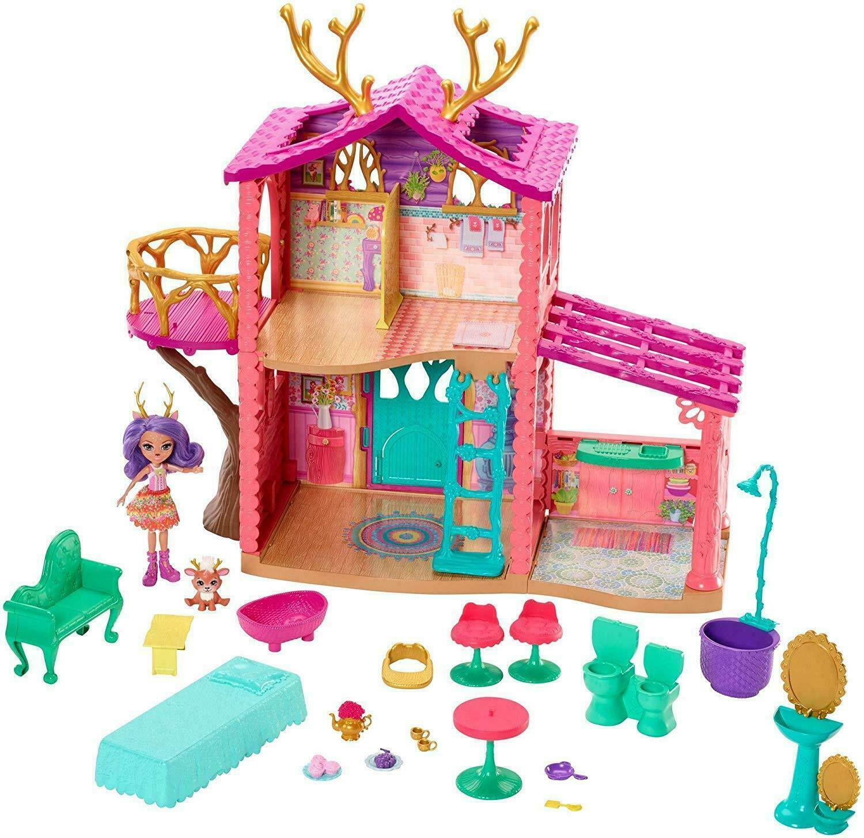 Enchantimals Cosy House spelastat med Danessa Deer Doll och Sprint Figur