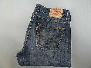 LEVIS-512-Mens-Jeans-BOOTCUT-Blue-Denim-SIZE-W33-L36-Waist-33-Leg-36-LEVI-512