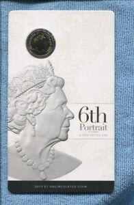 2019 UNC $1 6th Portrait New Effigy Era Double Header coin Queen Elizabeth