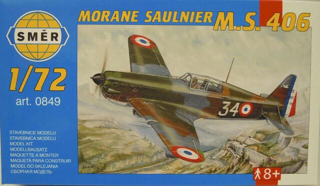 Morane Saulnier M.S.406 , 1:72, Smer, Modèle en Plastique Kit, Neuf
