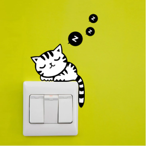 Cute-Removable-Cat-Switch-Sticker-Mural-Art-Wall-Bedroom-Stickers-Home-Decors