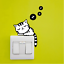 Cute-Removable-Cat-Switch-Sticker-Mural-Art-Wall-Bedroom-Stickers-Home-Decors thumbnail 1