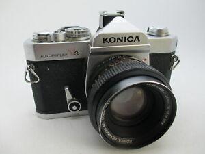 Konica-Autoreflex-T3-35mm-SLR-Film-Camera-w-Hexanon-50mm-f1-7-Tested-WORKING