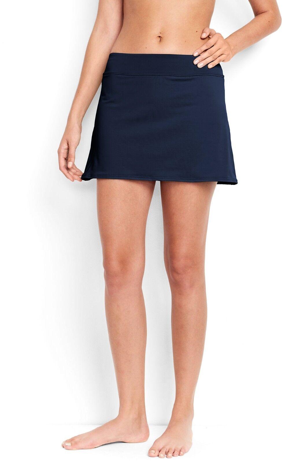 Lands'End Women's SwimMini Skirt Deep Sea Size 4 item J