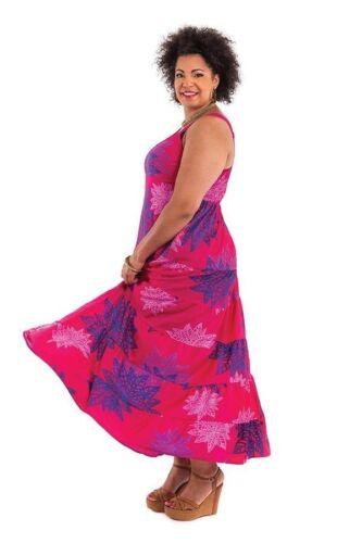 Léger Maxi robe d/'été Plage Robe Bretelle Robe Taille 52//54