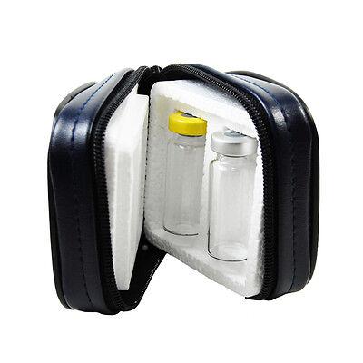 Insulin Case for 2 (10mL) Vials - Maximum Vial Protection in Zip Up Bag