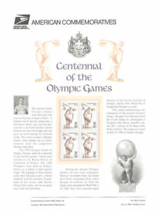 493-32c-Olympic-Games-Centennial-3087-USPS-Commemorative-Stamp-Panel