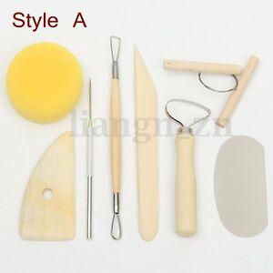 Kit-Outils-Modelage-Sculpture-Gravure-Ceramique-Argile-Poterie-Fimo-Bois