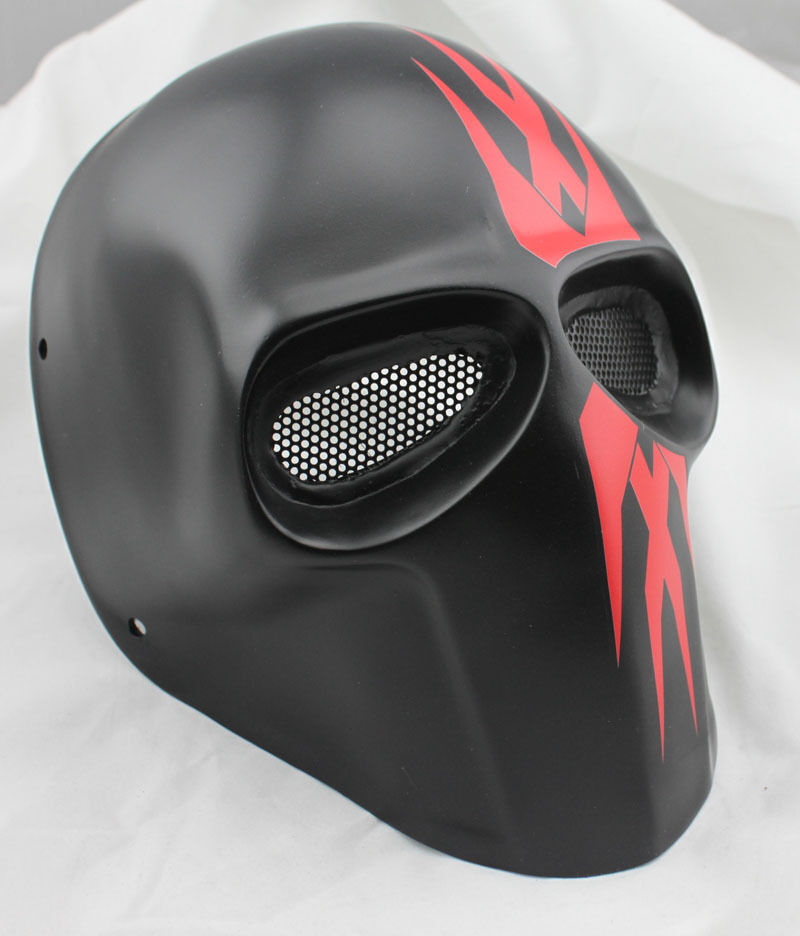 Nice Fiberglass Resin Mesh Eye Airsoft Paintball Full Face Predection Mask m0429