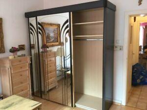 Details zu Schiebetürenschrank 2-türig Schiebetüren Spiegelschrank  Schlafzimmer