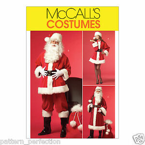 McCall-039-s-5550-Sewing-Pattern-to-MAKE-Male-Female-Santa-Father-Christmas-Suit