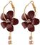 Femmes Mode Cristal Cœur Fleur Long Tassel Dangle Boucles d/'oreilles Frange Goutte Cadeau
