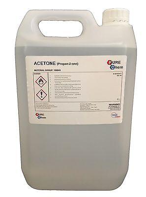 5l Container Pure Acetone Acrylic Nail Remover Nail Polish Remover 99 8 Ebay