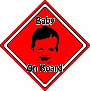 Baby-Child-On-Board-Car-Sign-Baby-Face-Silhouette-Neon-Red