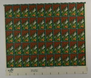 US SCOTT 1445 PANE OF 50 ON THE FIRST DAY OF CHRISTMAS STAMPS 8 CENT FACE MNH
