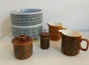 Vintage-Retro-Chic-English-Hornsea-Ceramic-Bronte-Saffron-Tapestry-Tableware-set