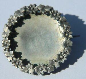 support de broche en métal argenté début 1900