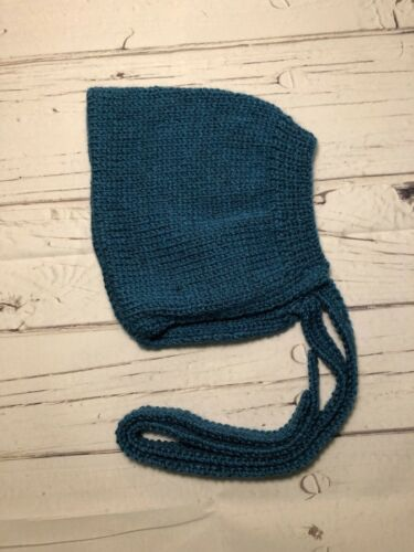 moutarde ou turquoise quatre tailles Hand Knitted Baby Girls Bonnet
